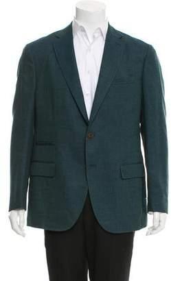 Luciano Barbera Woven Two-Button Blazer w/ Tags