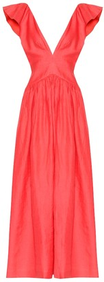 Kalita Persephone linen maxi dress
