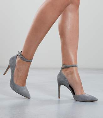 Reiss Lya - Suede Ankle Strap Shoes in Blue