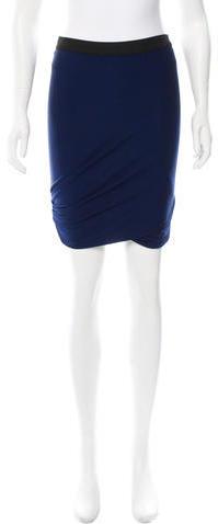 Alexander WangT by Alexander Wang Draped Mini Skirt