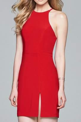 Faviana Jersey Open-Back Dress