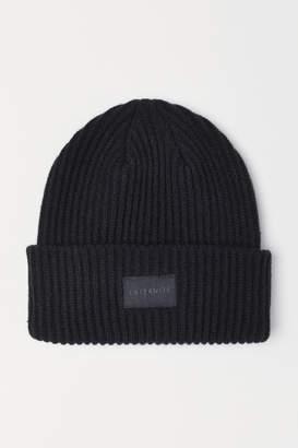 H&M Rib-knit Hat - Black
