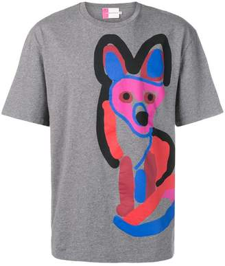 MAISON KITSUNÉ Acide fox print T-shirt