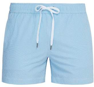 "Onia Charles 5"" Seersucker Swim Shorts - Mens - Blue"