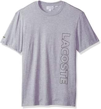 Lacoste Men's Short Sleeve Graphic Jersey Tee Wording Logo