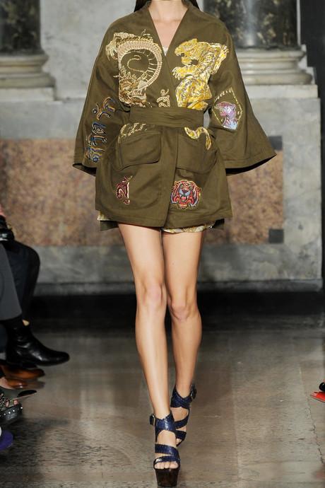 Emilio Pucci Embroidered cotton-canvas kimono-style jacket