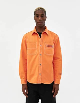 Heron Preston Uniform Denim Shirt in Orange