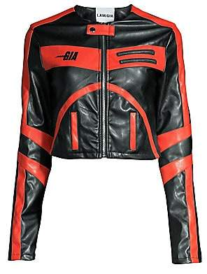 I.AM.GIA I.AM. GIA Women's Octavia Bicolor Leather Jacket