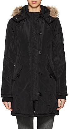 Barneys New York WOMEN'S FAUX-FUR-TRIMMED HOODED TECH-FABRIC JACKET