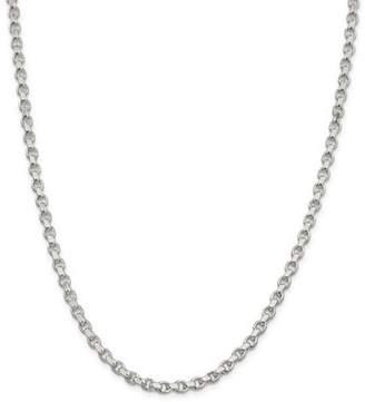 Jewelrypot Sterling Silver 8in 4mm Rollo Men's Chain Bracelet