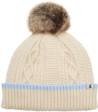 c2c3ef891f2 Next Womens Joules Anya Bobble Hat With Faux Fur Pom