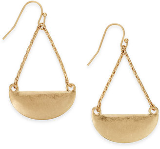 INC International Concepts Half Circle Drop Earrings, Only at Macy's $19.50 thestylecure.com
