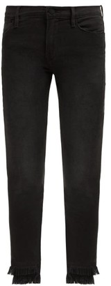 Frame Le High Fringed Cuff Skinny Jeans - Womens - Black