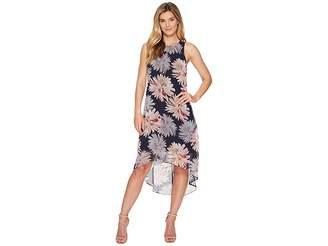 Karen Kane Etched Lotus High-Low Hem Dress Women's Dress
