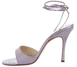 Jimmy Choo Iridescent Lace-Up Sandals