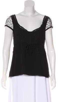 Givenchy Lace-Trimmed Silk Blouse