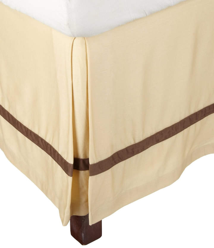 Honey & Mocha Hotel Collection Cotton Bed Skirt