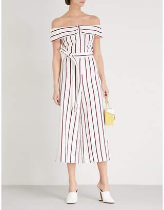 Alexis Ninna off-the-shoulder cotton-blend jumpsuit
