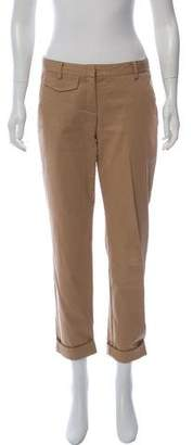 Theory Straight-Leg Mid-Rise Pants