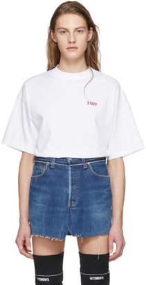Vetements White Staff Entry Level T-Shirt