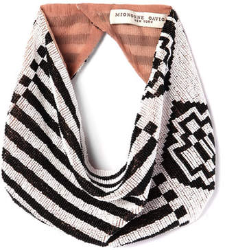 Mignonne Gavigan Aztec Geometric Beaded Scarf Necklace
