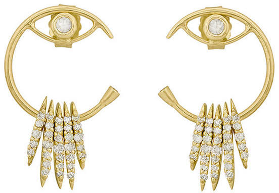 Celine Celine Daoust Evil Eye Earrings with Diamond Bars