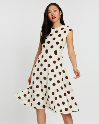 Forcast Amara Polka Dot Dress
