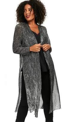 Evans Silver Sparkle Kimono