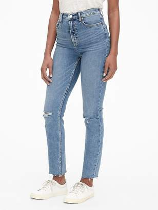 Gap High Rise Cigarette Ankle Jeans with Secret Smoothing Pockets