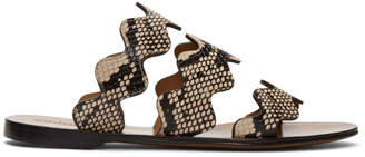 Chloé Grey Python Lauren Sandals
