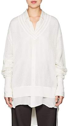 BY. Bonnie Young Women's Varsity Mesh Sweater
