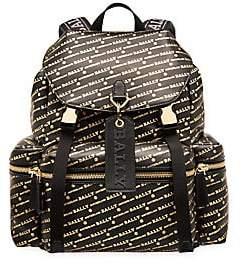 636d0206e7 Bally Men s Crew Logo Leather Backpack