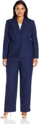 Le Suit LeSuit Women's Plus Size Two Button Pant Suit