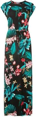 Dorothy Perkins Womens **Tall Multi Coloured Tasselled Tropical Maxi Dress
