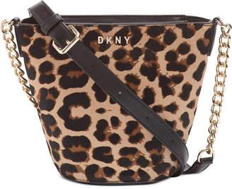 DKNY Kim Chain Leather Bucket Bag