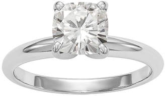FINE JEWELRY Womens 1 3/4 CT. T.W. White Moissanite 14K White Gold Round Solitaire Engagement Ring