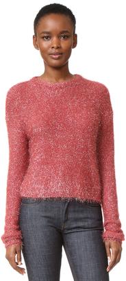 Tibi Glean Easy Crewneck Pullover $365 thestylecure.com