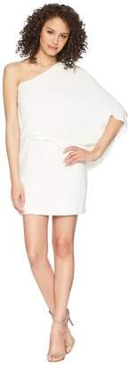 Halston One Shoulder Asymmetrical Sleeve Dress Women's Dress
