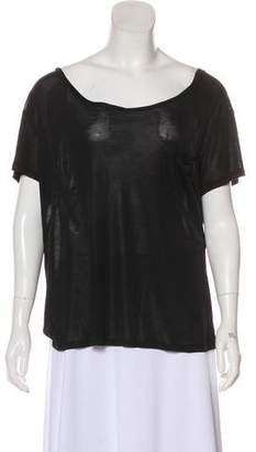 Saint Laurent Silk Short Sleeve Top