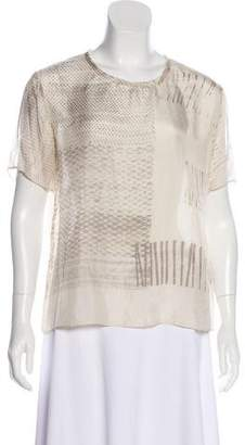 Raquel Allegra Printed Silk Top