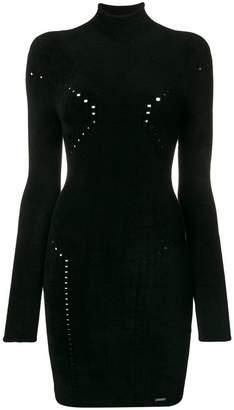 DSQUARED2 pointelle turtleneck knit dress
