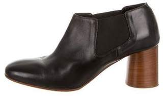 Creatures of Comfort Leather Square-Toe Booties