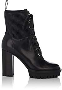 Gianvito Rossi Women's Martis Leather Lace-Up Boots - Black