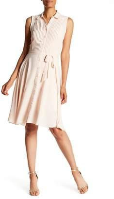 Nanette Lepore NANETTE Sleeveless Pleated Upper Dress