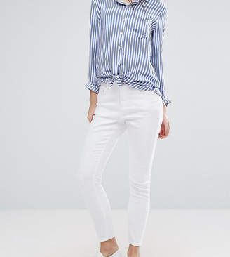 Asos Design Petite Ridley Skinny Jeans In White