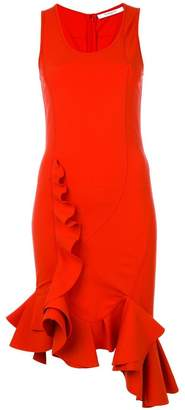 Givenchy ruffle trim fitted dress