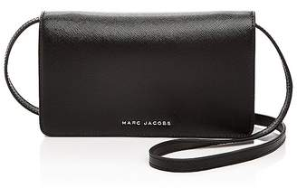 MARC JACOBS Wallet On Strap Tricolor Saffiano Leather Crossbody $250 thestylecure.com