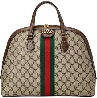 Gucci Ophidia Medium Gg Supreme Canvas & Leather Shoulder Bag