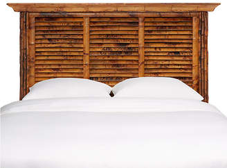 One Kings Lane Louvered Headboard - Antique Tortoise