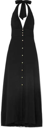 Heidi Klein Oman Halterneck Voile Maxi Dress - Black